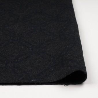 ウール&コットン×幾何学模様(チャコール)×二重織ジャガード サムネイル3