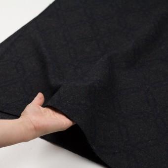 ウール&コットン×幾何学模様(チャコール)×二重織ジャガード サムネイル5