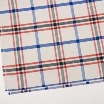 コットン×チェック(レッド、ブラック、ブルー&アイボリー)×ビエラ サムネイル2