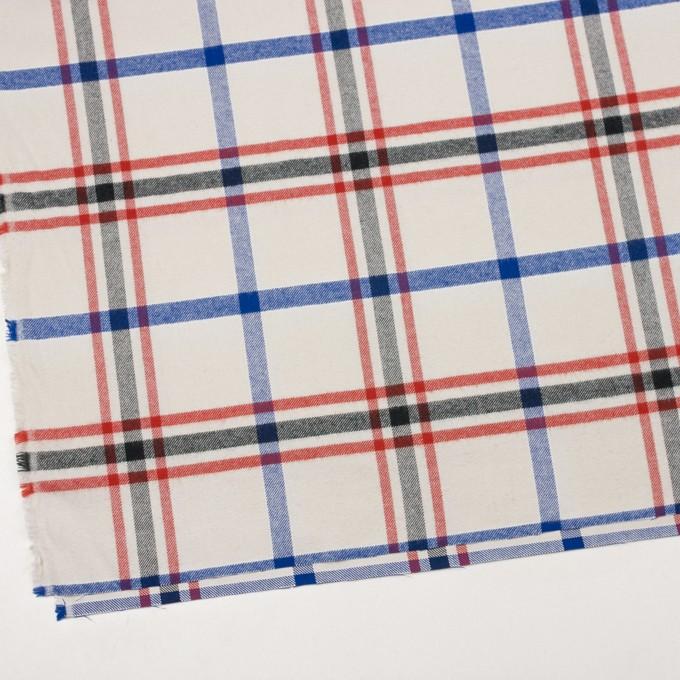 コットン×チェック(レッド、ブラック、ブルー&アイボリー)×ビエラ イメージ2