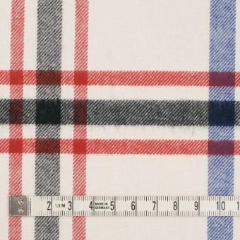 コットン×チェック(レッド、ブラック、ブルー&アイボリー)×ビエラ サムネイル4