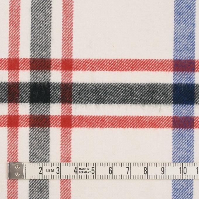 コットン×チェック(レッド、ブラック、ブルー&アイボリー)×ビエラ イメージ4