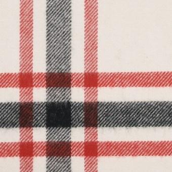 コットン×チェック(レッド、ブラック、ブルー&アイボリー)×ビエラ サムネイル1