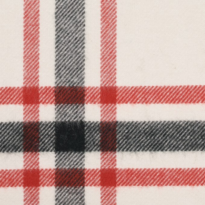 コットン×チェック(レッド、ブラック、ブルー&アイボリー)×ビエラ イメージ1