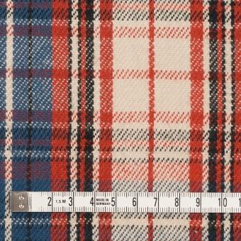 コットン×チェック(レッド、キナリ&ブルーグレー)×ビエラ サムネイル4