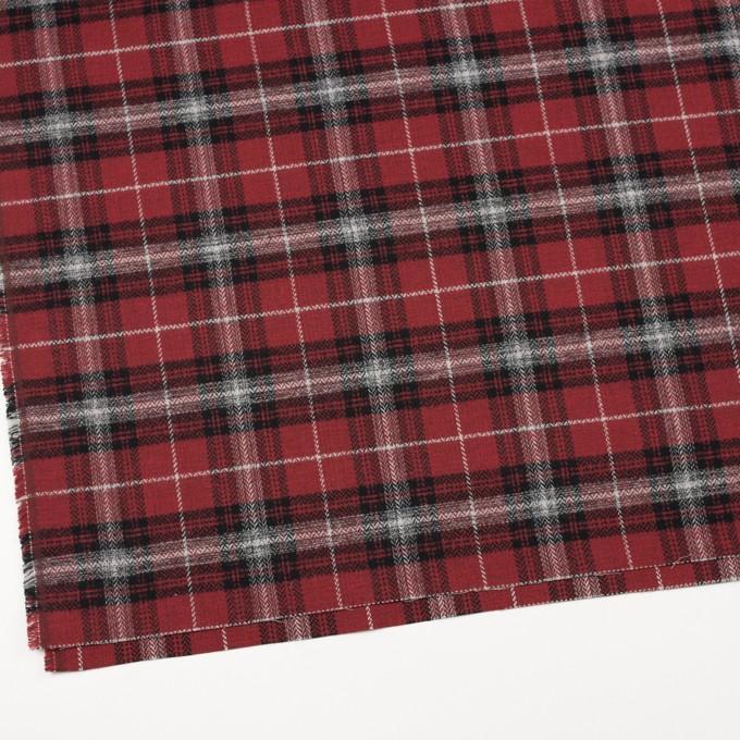 コットン×チェック(キナリ、ブラック&レッド)×ヘリンボーン イメージ2