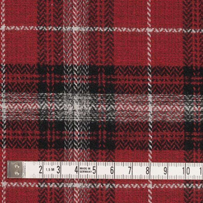 コットン×チェック(キナリ、ブラック&レッド)×ヘリンボーン イメージ4