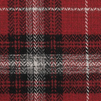 コットン×チェック(キナリ、ブラック&レッド)×ヘリンボーン サムネイル1