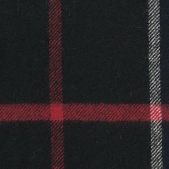コットン×チェック(ネイビー&ブラック)×フランネル サムネイル1