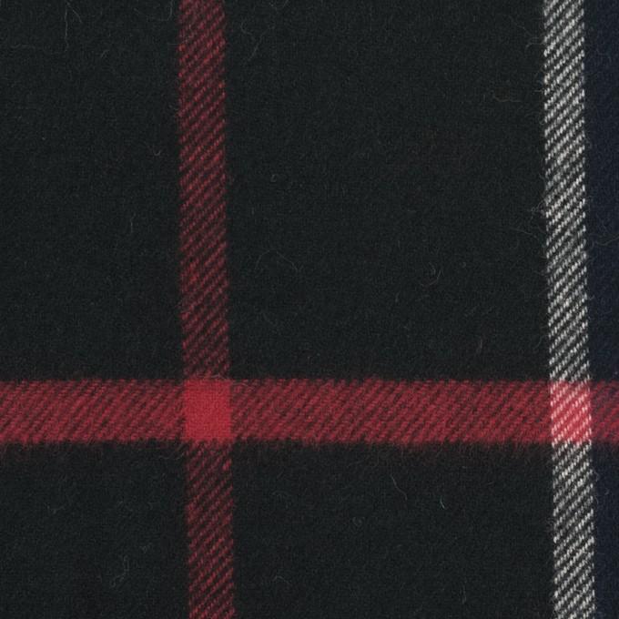 コットン×チェック(ネイビー&ブラック)×フランネル イメージ1