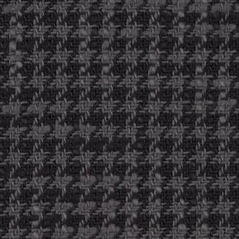コットン×チェック(グレー&チャコール)×千鳥格子