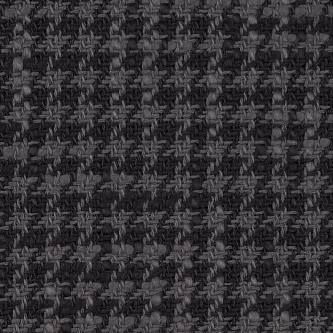 コットン×チェック(グレー&チャコール)×千鳥格子 イメージ1