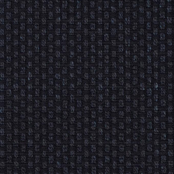 コットン×無地(ダークネイビー)×刺し子 イメージ1