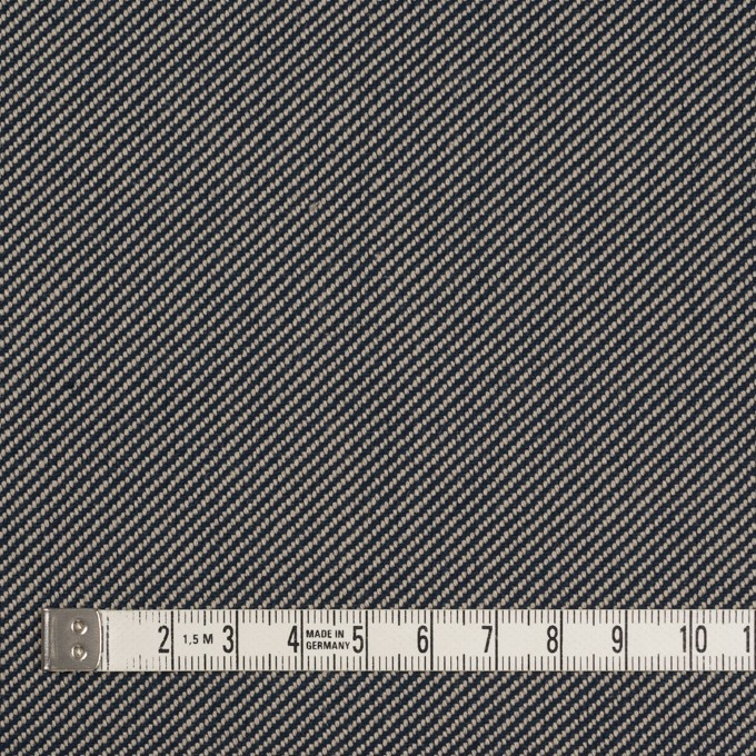 コットン×無地(グレイッシュベージュ&ネイビー)×厚サージ イメージ4