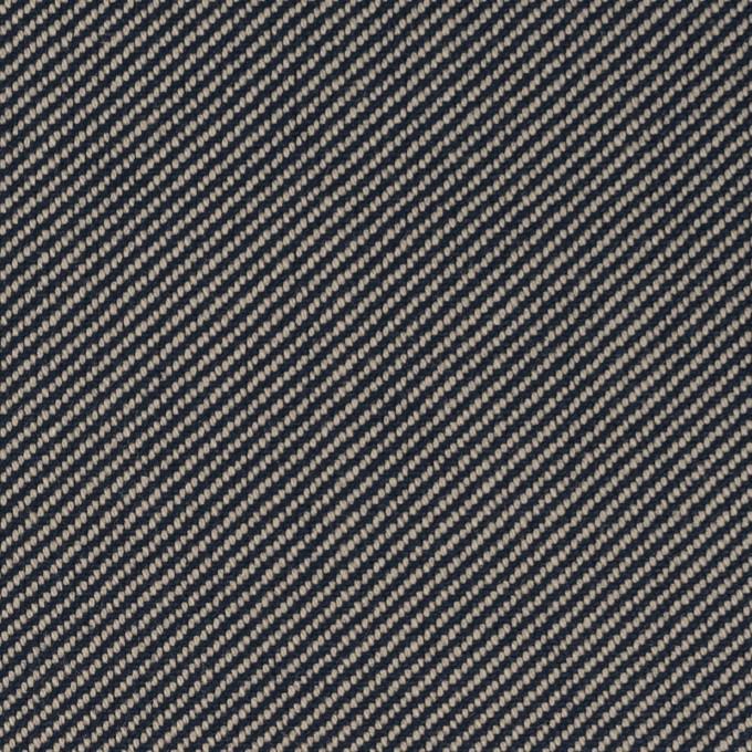 コットン×無地(グレイッシュベージュ&ネイビー)×厚サージ イメージ1