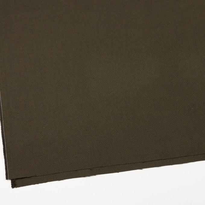 コットン×無地(カーキグリーン&カーキブラウン)×厚サージ イメージ2