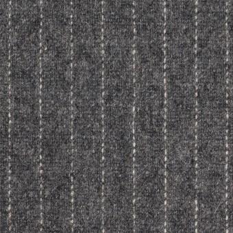 ウール&ポリエステル混×ストライプ(グレー)×ツイードストレッチ サムネイル1