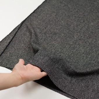 ウール&ナイロン混×ミックス(ブラック)×ツイードストレッチ_全2色 サムネイル5
