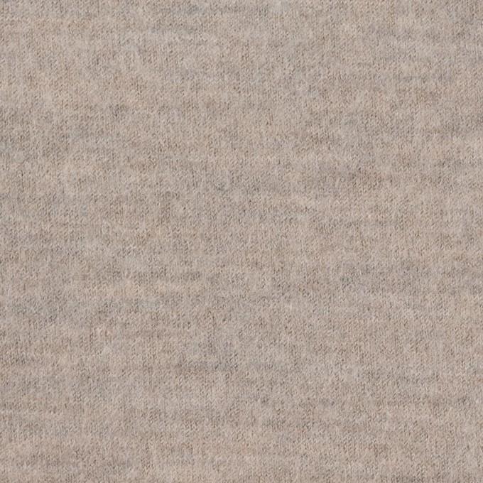 ウール×無地(オートミール)×圧縮天竺ニット イメージ1