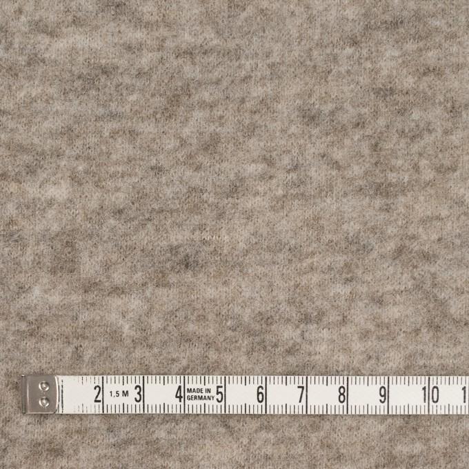 ウール&アクリル混×無地(オートミール)×天竺ニット イメージ4