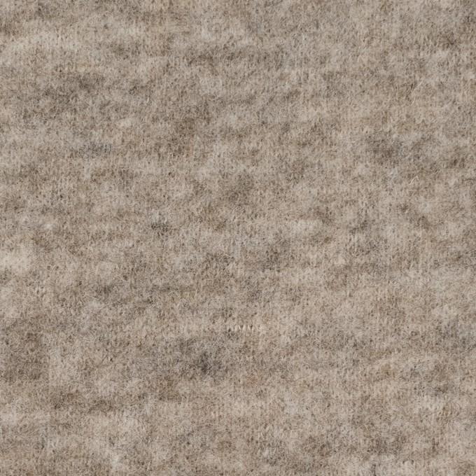 ウール&アクリル混×無地(オートミール)×天竺ニット イメージ1