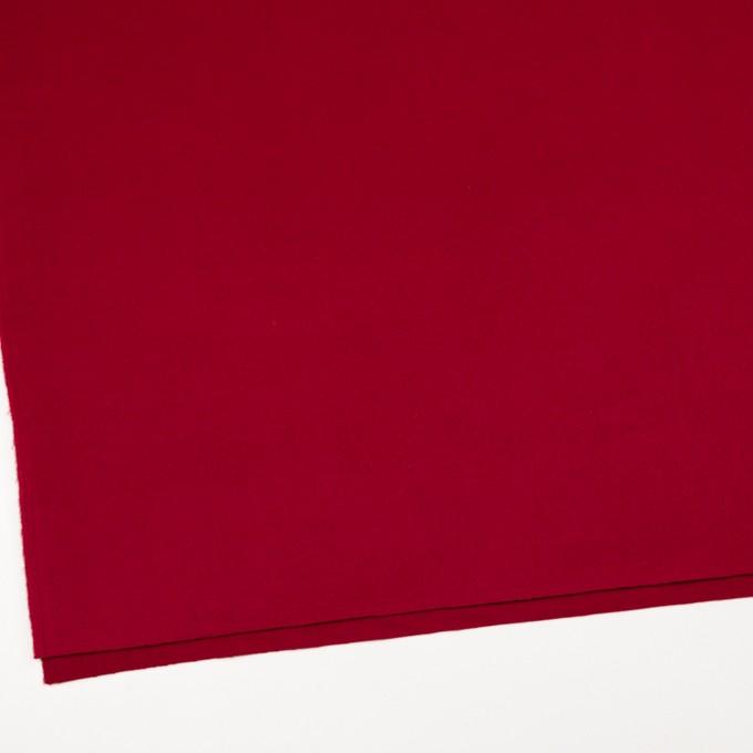 ウール&ナイロン混×無地(レッド)×ビーバー_全3色 イメージ2