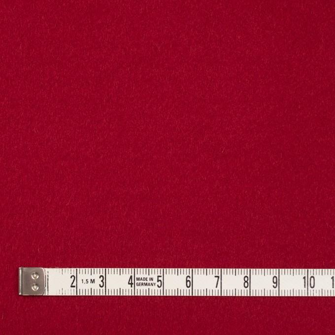 ウール&ナイロン混×無地(レッド)×ビーバー_全3色 イメージ4