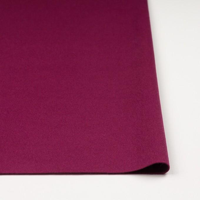 ウール&ナイロン混×無地(チリアンパープル)×ビーバー_全3色 イメージ3