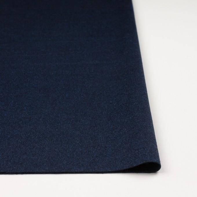 ウール&ナイロン混×無地(ミッドナイトブルー)×ビーバー イメージ3
