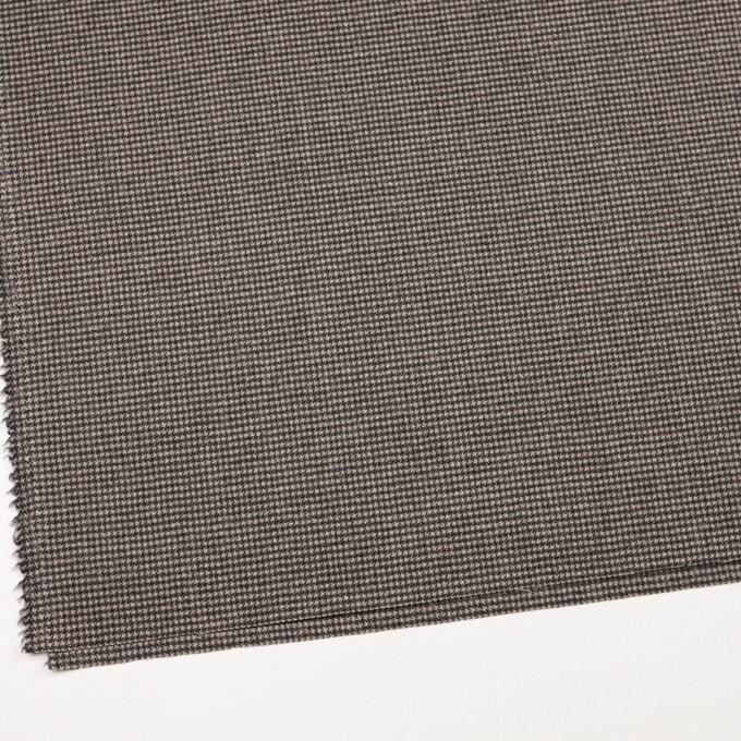 ウール&ナイロン×チェック(キナリ&ダークブラウン)×千鳥格子 イメージ2