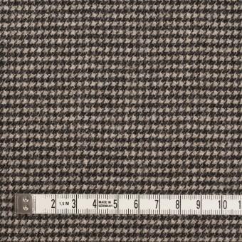 ウール&ナイロン×チェック(キナリ&ダークブラウン)×千鳥格子 サムネイル4