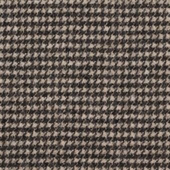 ウール&ナイロン×チェック(キナリ&ダークブラウン)×千鳥格子 サムネイル1