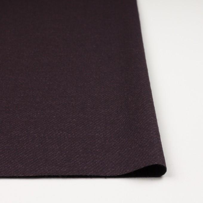 ウール&ナイロン混×無地(プラム)×かわり編み イメージ3