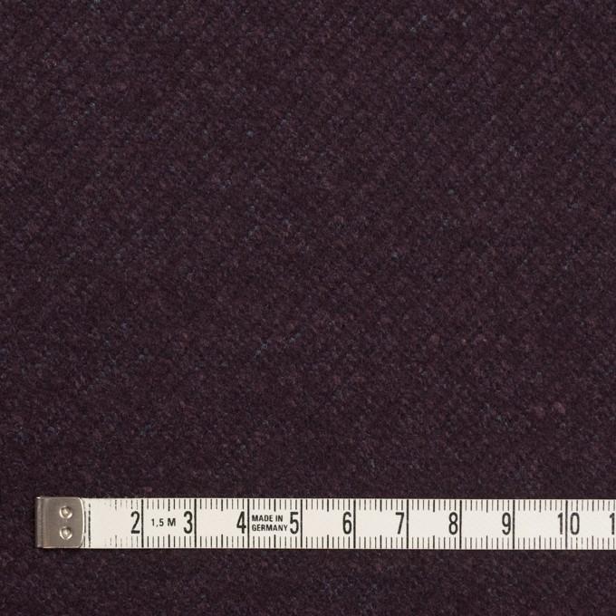 ウール&ナイロン混×無地(プラム)×かわり編み イメージ4
