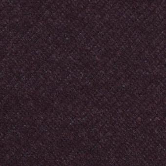 ウール&ナイロン混×無地(プラム)×かわり編み