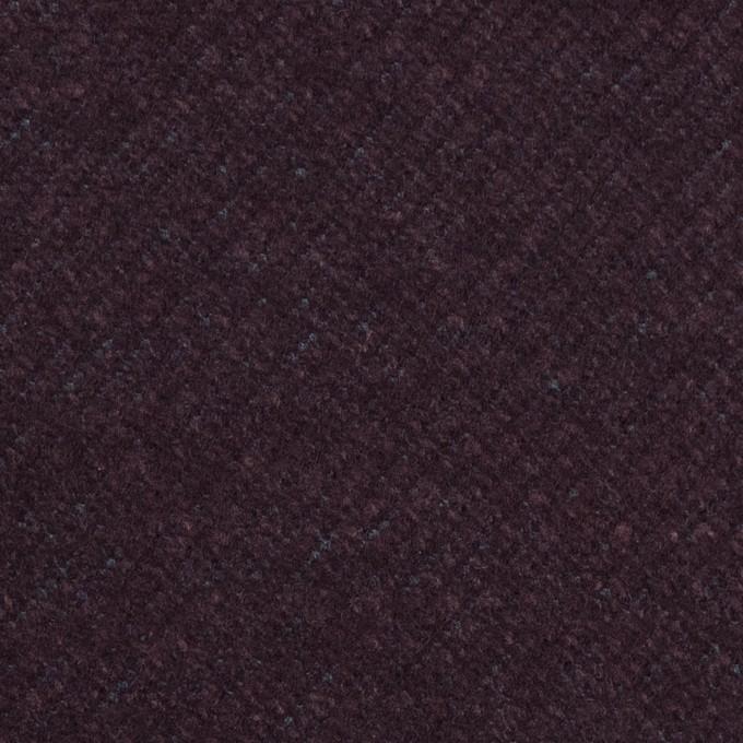 ウール&ナイロン混×無地(プラム)×かわり編み イメージ1