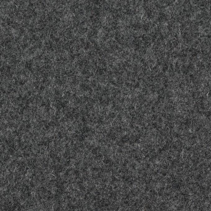 ウール&ナイロン×無地(チャコールグレー)×フラノ(フランネル) イメージ1