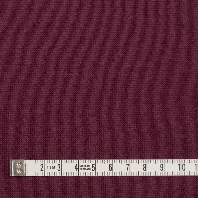コットン×無地(ワイン)×天竺ニット_全6色 イメージ4
