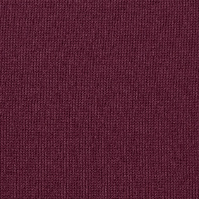 コットン×無地(ワイン)×天竺ニット_全6色 イメージ1