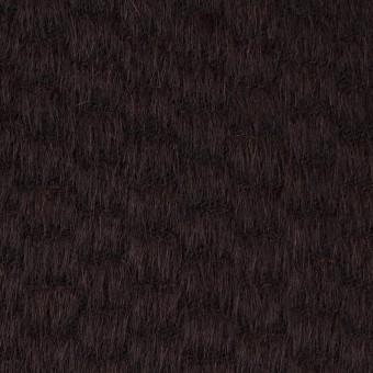 ウール&ナイロン×無地(チョコレート)×シャギー_全2色