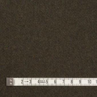 ウール&ナイロン×無地(ダークカーキ)×フラノ(フランネル) サムネイル4