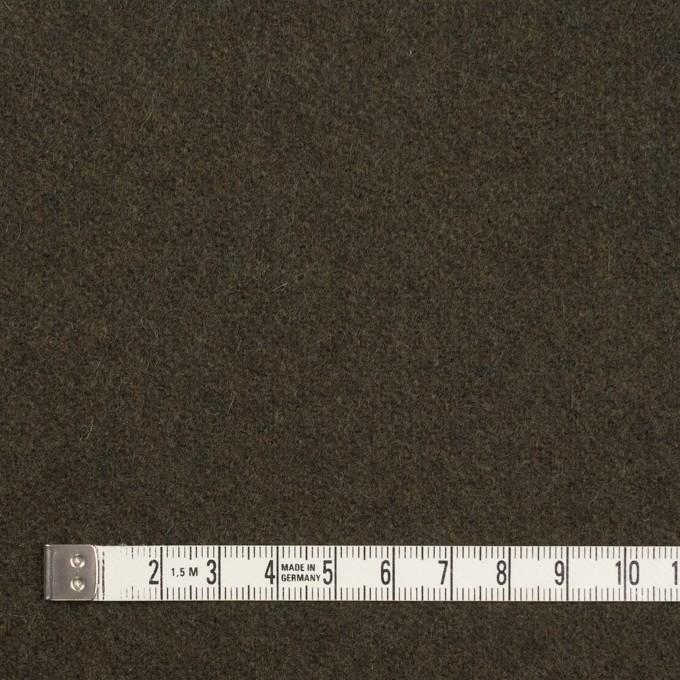 ウール&ナイロン×無地(ダークカーキ)×フラノ(フランネル) イメージ4
