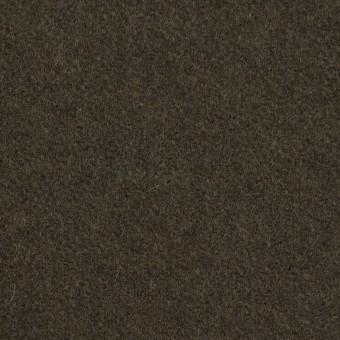 ウール&ナイロン×無地(ダークカーキ)×フラノ(フランネル) サムネイル1