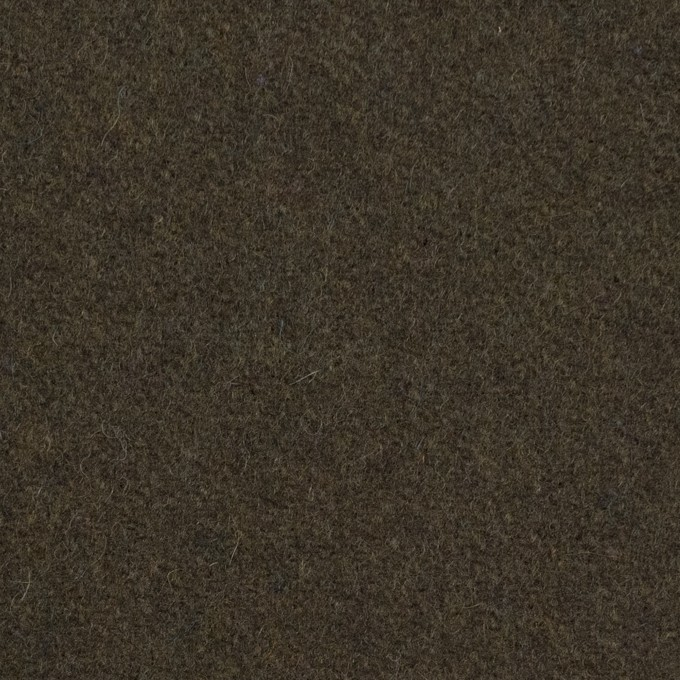 ウール&ナイロン×無地(ダークカーキ)×フラノ(フランネル) イメージ1