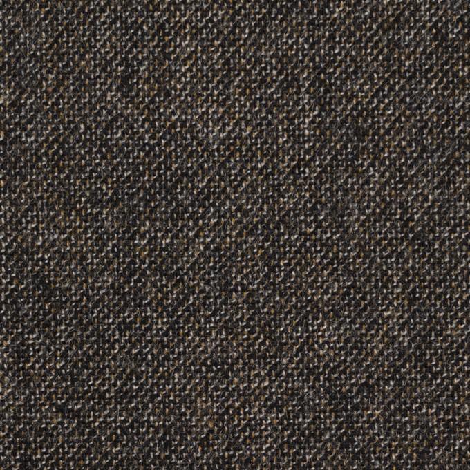 ウール×ミックス(オフホワイト、キャラメル&ブラック)×ツイード イメージ1