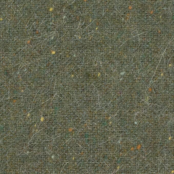 ウール&ポリエステル混×無地(アイビーグリーン)×ツイード イメージ1