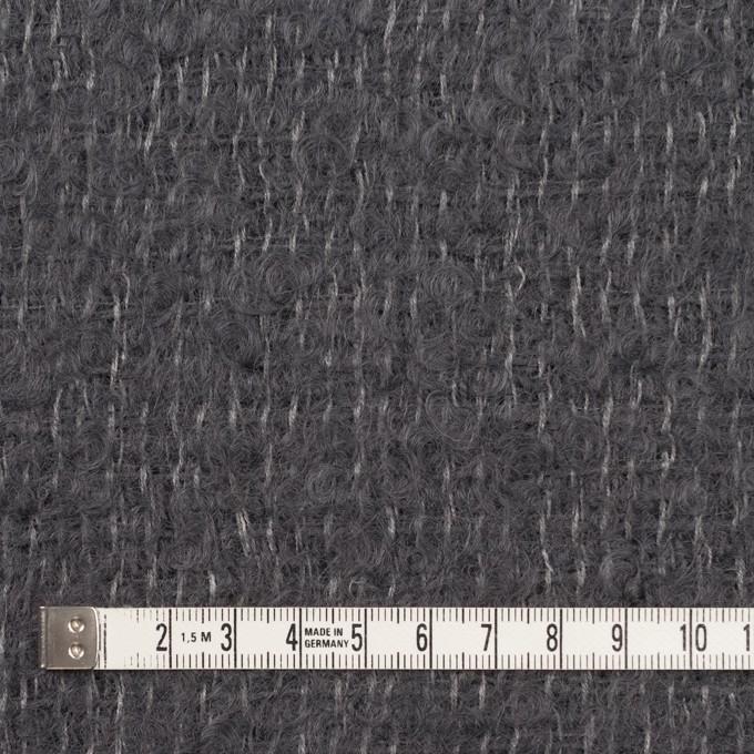 ウール&モヘア混×無地(チャコールグレー)×ファンシーツイード イメージ4