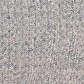 コットン×無地(杢グレー)×裏毛ニット(裏面起毛)