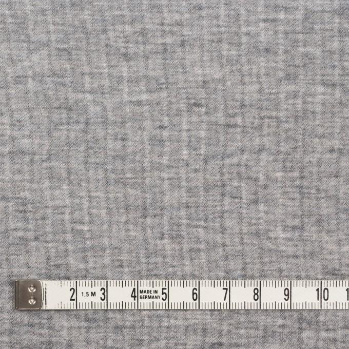 コットン×無地(杢グレー)×W天竺ニット イメージ4