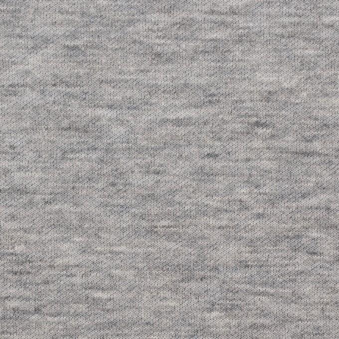コットン×無地(杢グレー)×W天竺ニット イメージ1